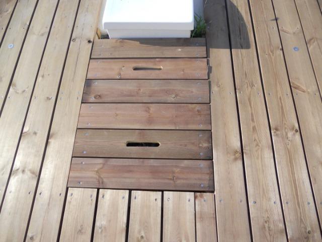 Terrasse en pin autoclav et aussi auto bronzante for Autobronzant et piscine