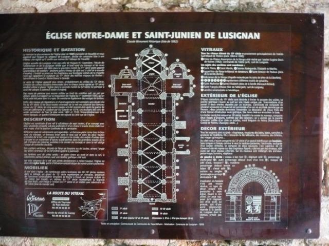 Vitraux de l'église de Lusignan 263dc6