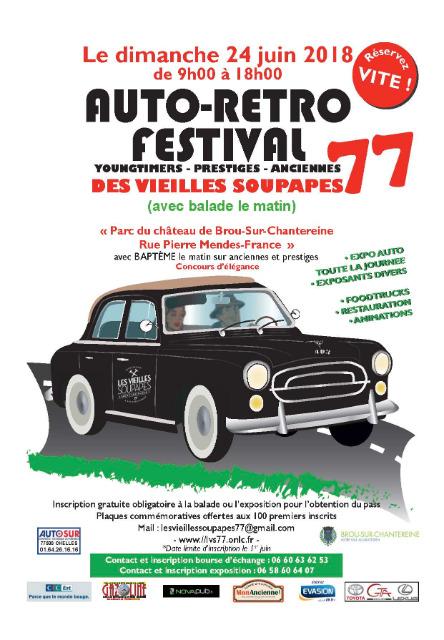 Auto Rétro Festival - 24 juin 18 - Brou Chantereine 12mmvr