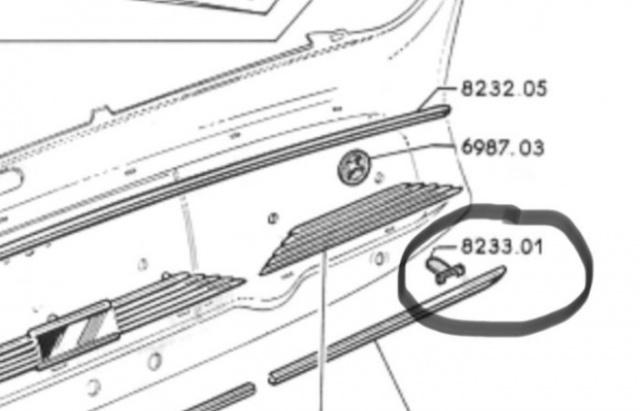 [RCH] Agrafes Tableau de Bord 203 Peugeot [Loire 42 ] 119b2q
